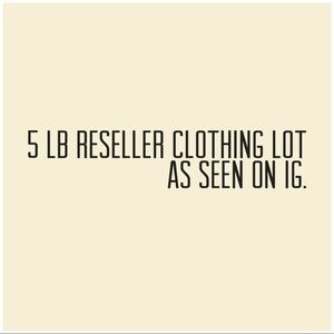 5 LB reseller clothing box